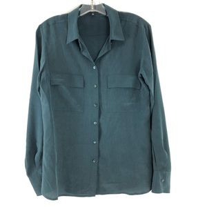 Babaton Silk Blouse Green Size Small G552